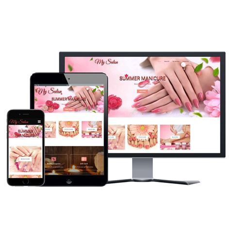 Picture of Nail Salon Website - Design #009