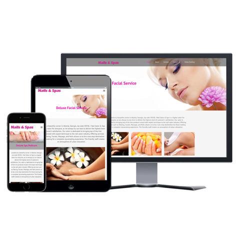 Picture of Nail Salon Website - Design #003