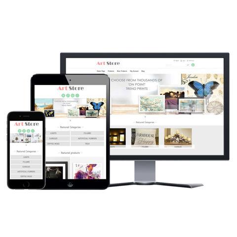 Hình ảnh Website eCommerce - Thiết Kế #901 Art Store