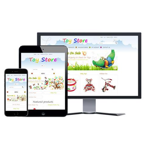 Hình ảnh Website eCommerce - Thiết Kế #916 Toy